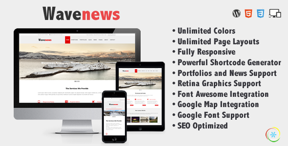 WaveNews Creative WordPress Theme