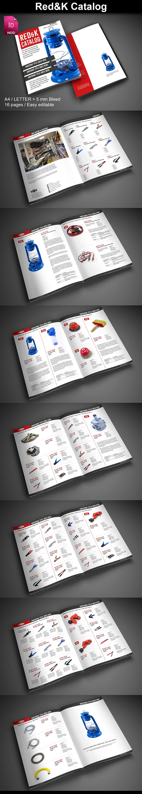15  InDesign Product Catalogs - just $19 - 05 RedKCatalog ImagePreview2