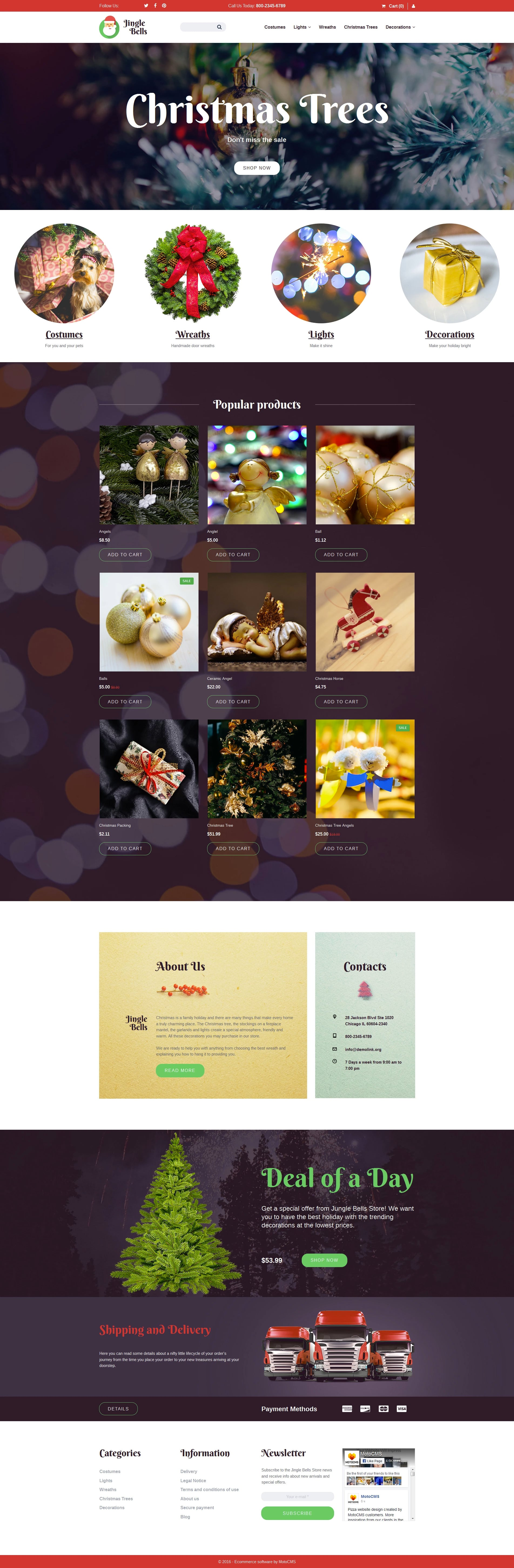 Christmas Responsive MotoCMS Ecommerce Template