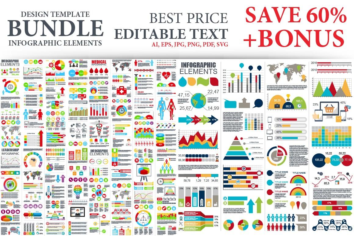 40% OFF Bundle Infographic Elements