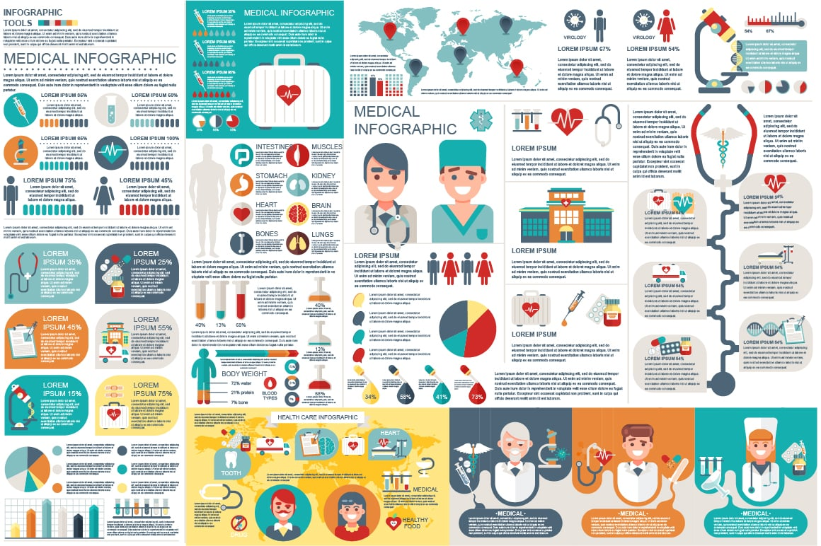 15+ Medical Infographics 2019: Free and Premium | PPT, KEY, PSD, EPS, AI - 2