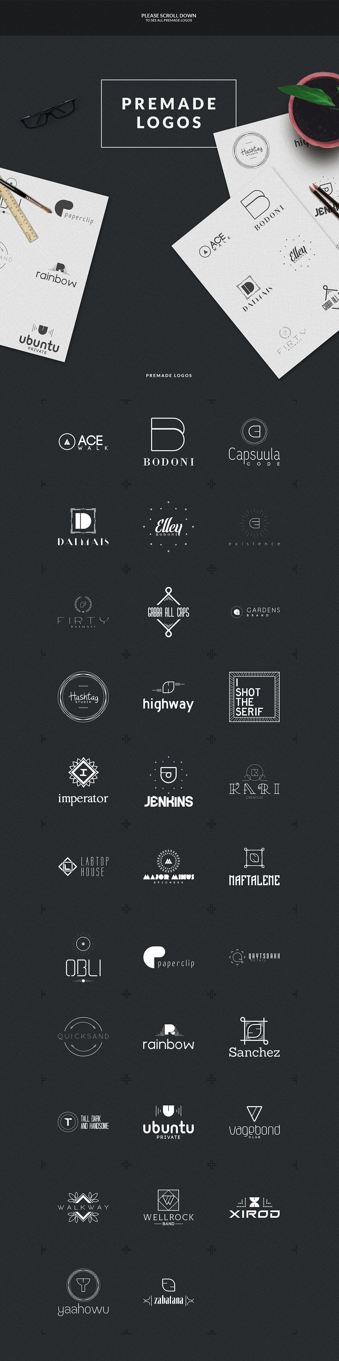 Logo Creation Kit: 409 Elements - just $5 - 3