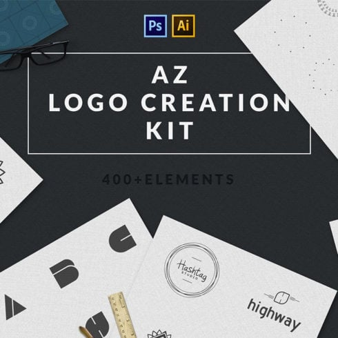 Logo Creation Kit: 409 Elements
