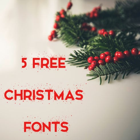 5 Free Christmas Fonts - 490 4 490x490