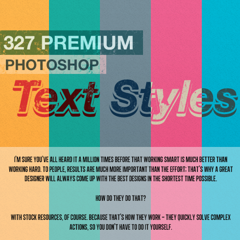 Get 327 Premium Photoshop Text Styles for Just $24 - 490x490 3