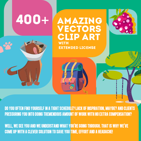 400+ Amazing Cartoon Vector Clip Art with 27 different sets - $10! - 490x490 5