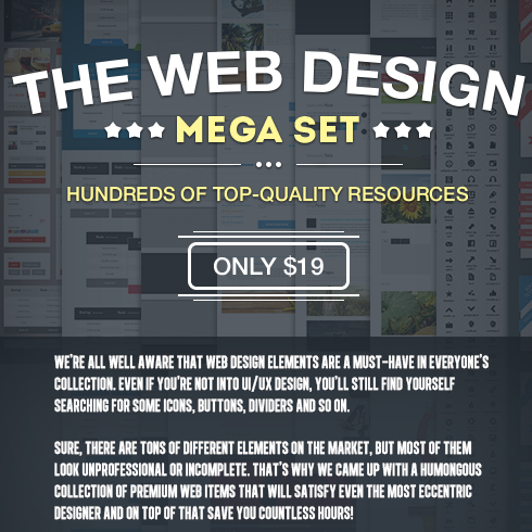 The Web Design Mega Set – Hundreds of Premium Resources for Only $19 - 490x490 6