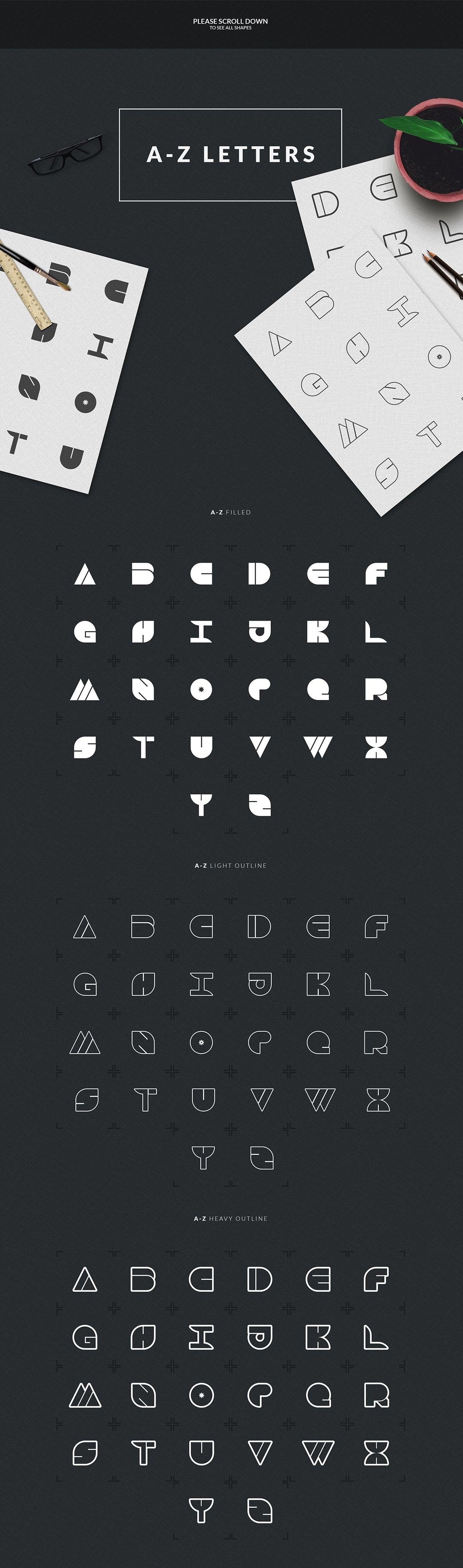 Logo Creation Kit: 409 Elements