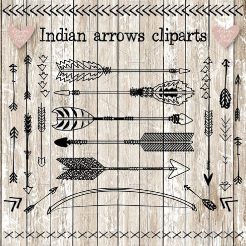 Vector Indian Arrows Clipart - Untitled 3 490x490