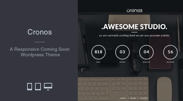 Cronos Coming Soon WordPress Theme