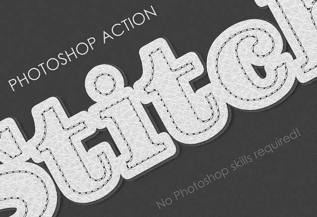 Get 327 Premium Photoshop Text Styles for Just $24 - designtnt addons stitched leather effect small