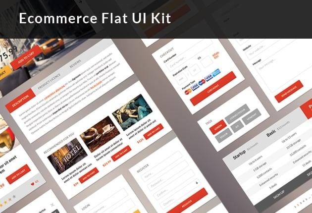 The Web Design Mega Set – Hundreds of Premium Resources for Only $19 - designtnt ecommerce flat ui kit preview small