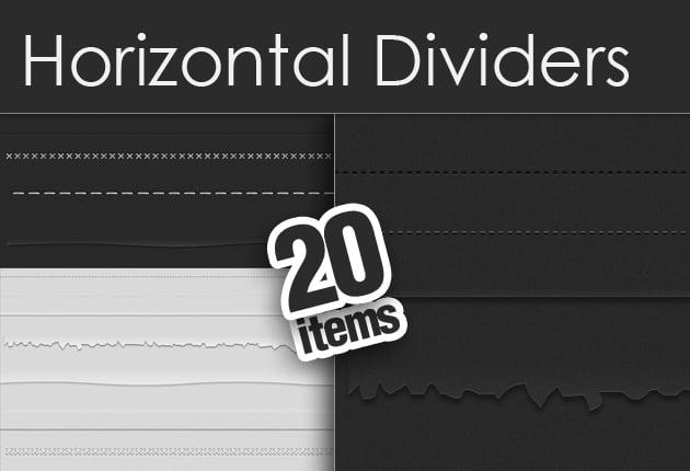 The Web Design Mega Set – Hundreds of Premium Resources for Only $19 - designtnt horizontal dividers set small
