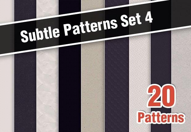 The Web Design Mega Set – Hundreds of Premium Resources for Only $19 - designtnt subtle patterns set 4 small