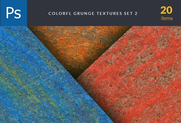 The Web Design Mega Set – Hundreds of Premium Resources for Only $19 - designtnt textures colorful grunge set 2 preview 630x430