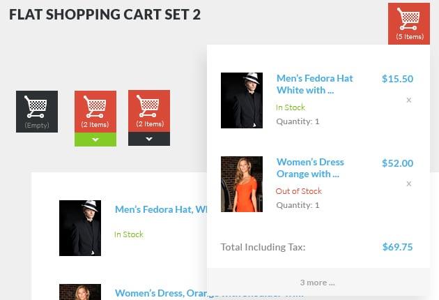 The Web Design Mega Set – Hundreds of Premium Resources for Only $19 - designtnt web flat shopping cart 2 small