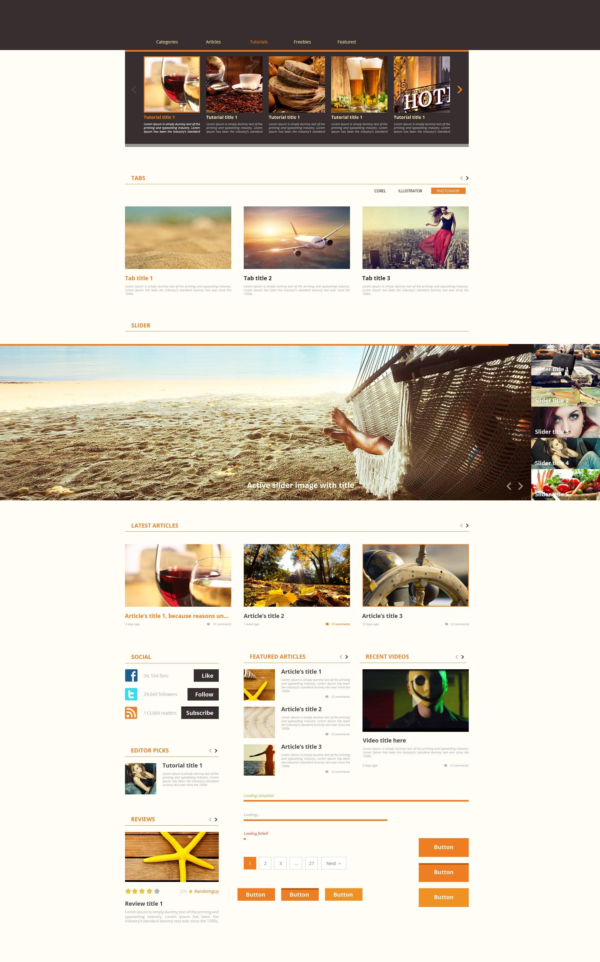 The Web Design Mega Set – Hundreds of Premium Resources for Only $19 - designtnt web uNews