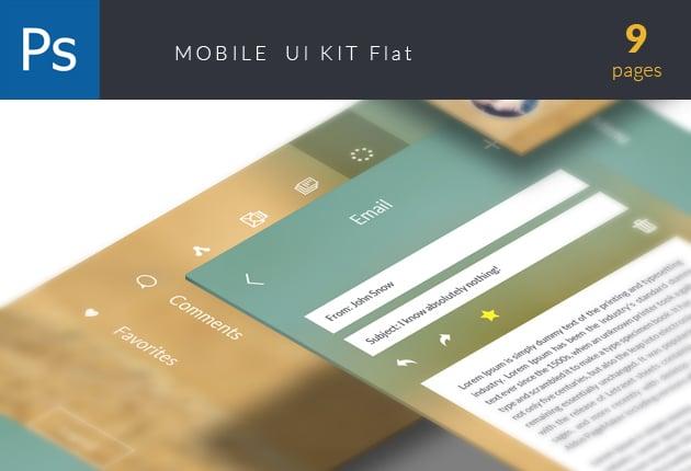 The Web Design Mega Set – Hundreds of Premium Resources for Only $19 - designtnt web ui kit mobile flat preview small