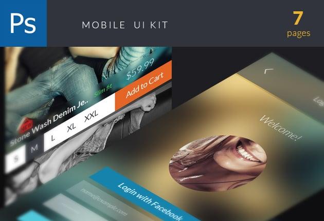 The Web Design Mega Set – Hundreds of Premium Resources for Only $19 - designtnt web ui kit mobile preview small