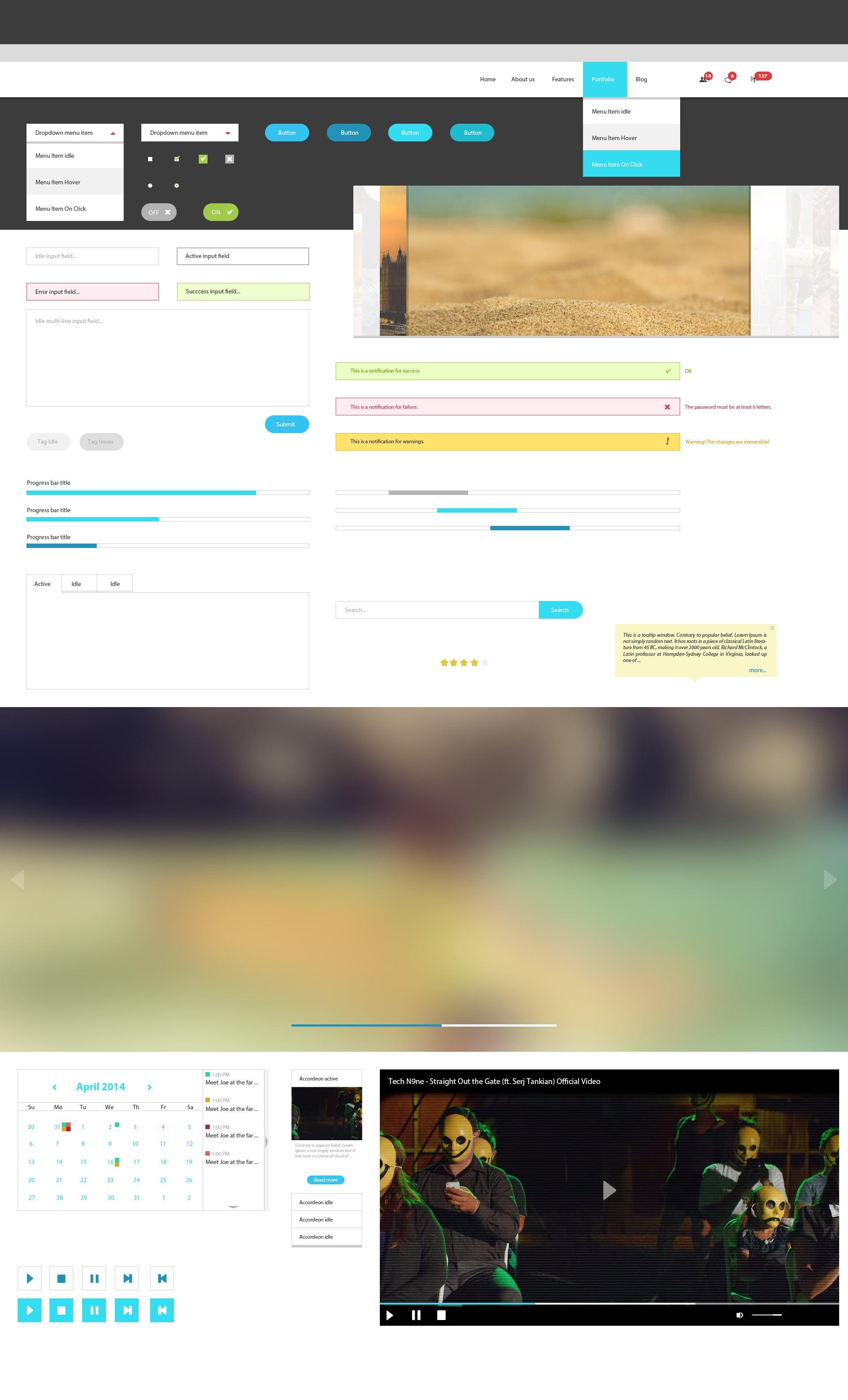 The Web Design Mega Set – Hundreds of Premium Resources for Only $19 - designtnt web ui kit nimda large