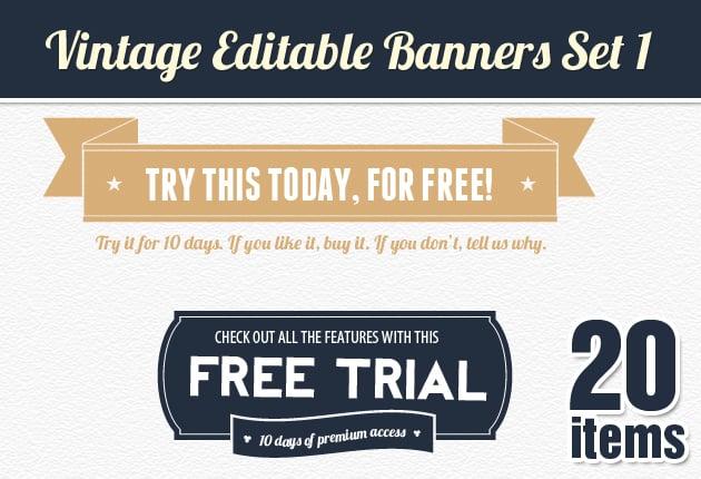 The Web Design Mega Set – Hundreds of Premium Resources for Only $19 - designtnt web vintage banners 1 small