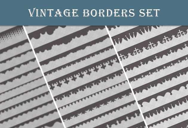 The Web Design Mega Set – Hundreds of Premium Resources for Only $19 - designtnt web vintage borders set preview small