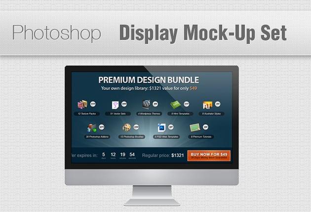 The Web Design Mega Set – Hundreds of Premium Resources for Only $19 - display mockup set small