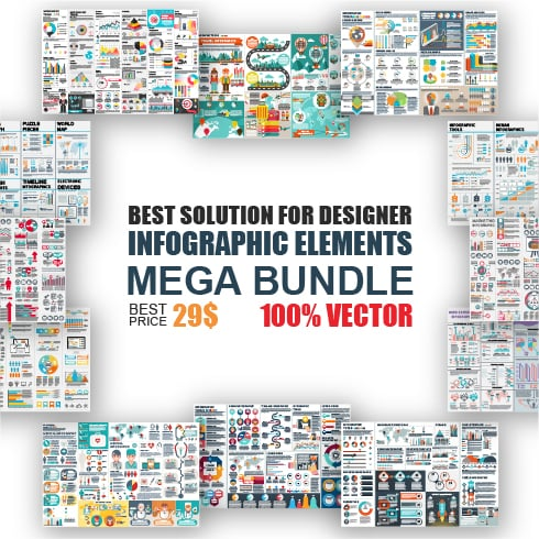 Infographic Elements Mega Bundle - just $29 - glavnaya 01