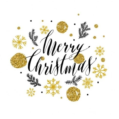 Beautiful Christmas labels with golden details - glitter style lettering for christmas 1085 698 490x490