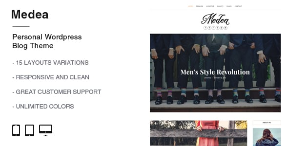 Medea Lifestyle Beauty WordPress Theme
