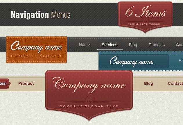 The Web Design Mega Set – Hundreds of Premium Resources for Only $19 - retro web navigation menu 1