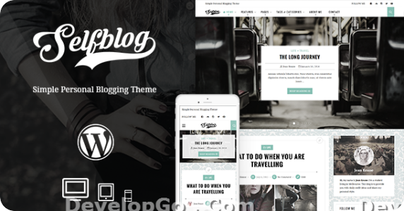 SelfBlog Personal WordPress Theme