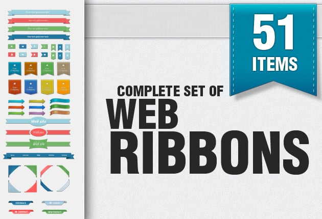 The Web Design Mega Set – Hundreds of Premium Resources for Only $19 - web ribbons small