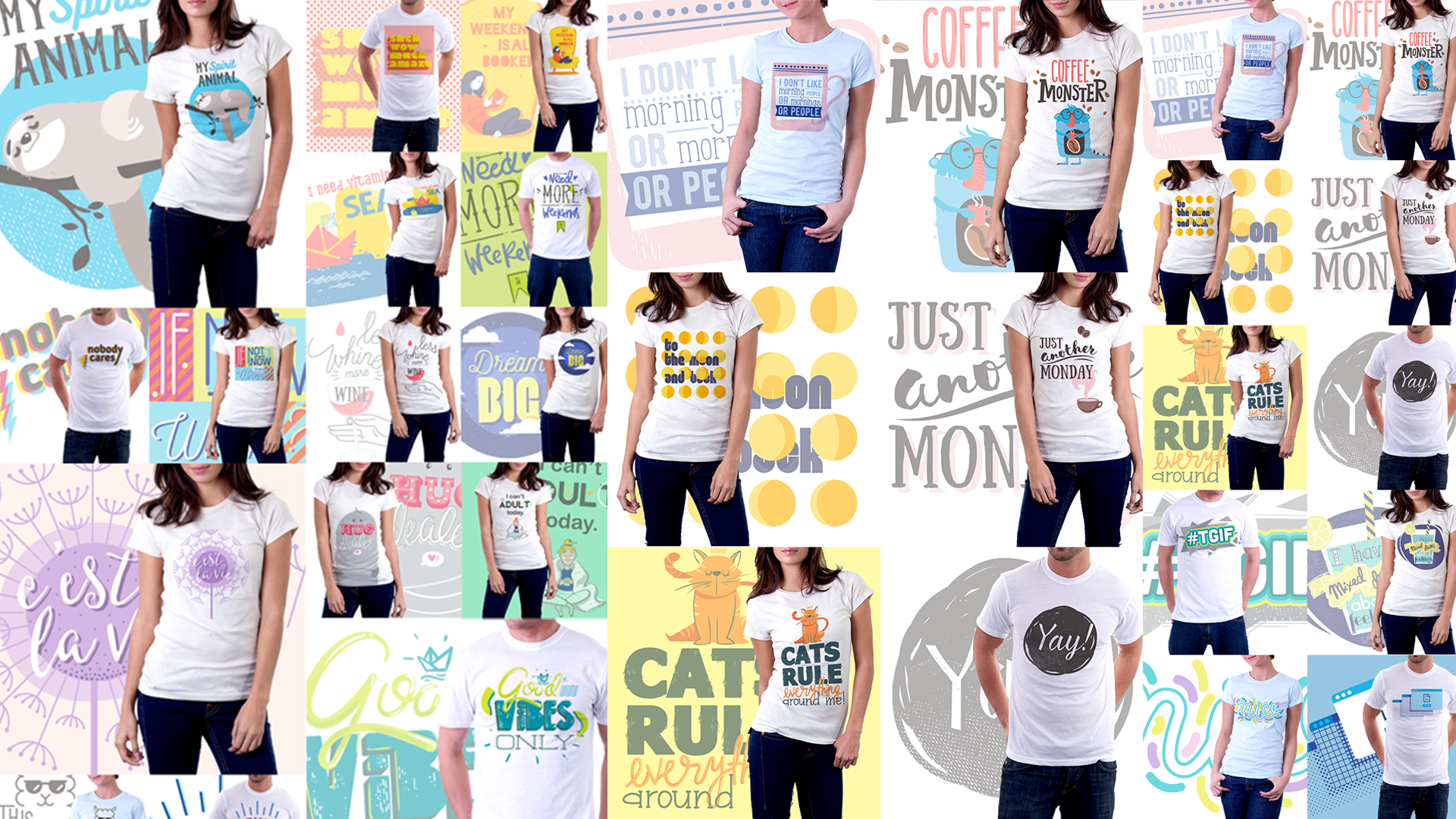 50+ Amazing Vector T-Shirt Design Templates