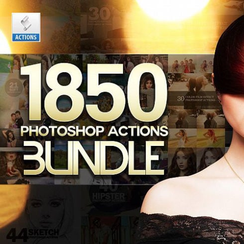 1850 Photoshop Actions with 95% OFF - only $32! - 490 4 490x490