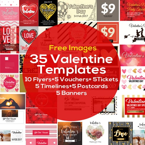 Valentine's Day Images Bundle: 35 Amazing Templates - 490x490 1
