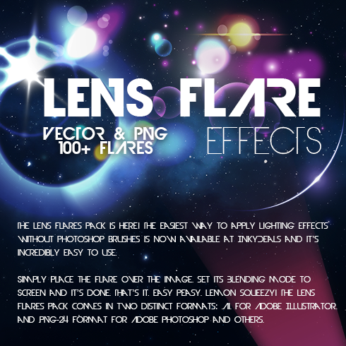 100 Lens Flare Effects with 90% OFF - 490x490 1a