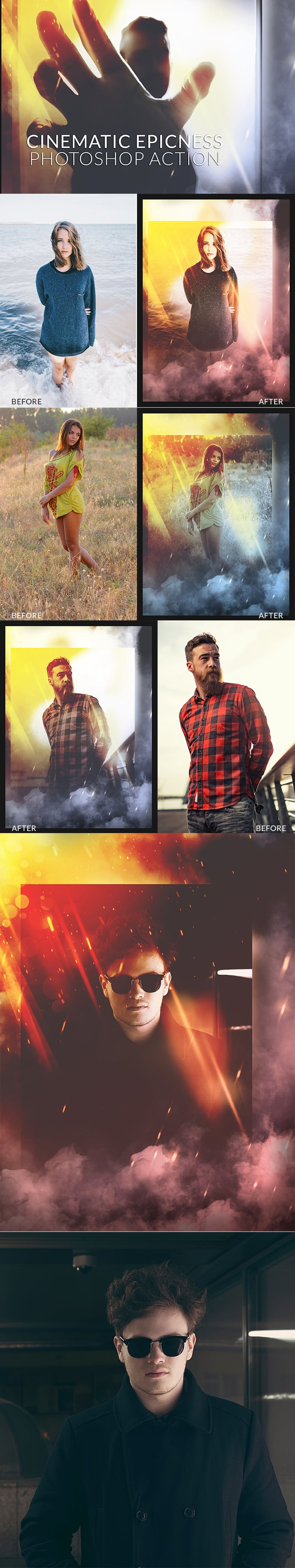 Photoshop Actions for Photographers. $9 Only! - 700px cinematic epicness