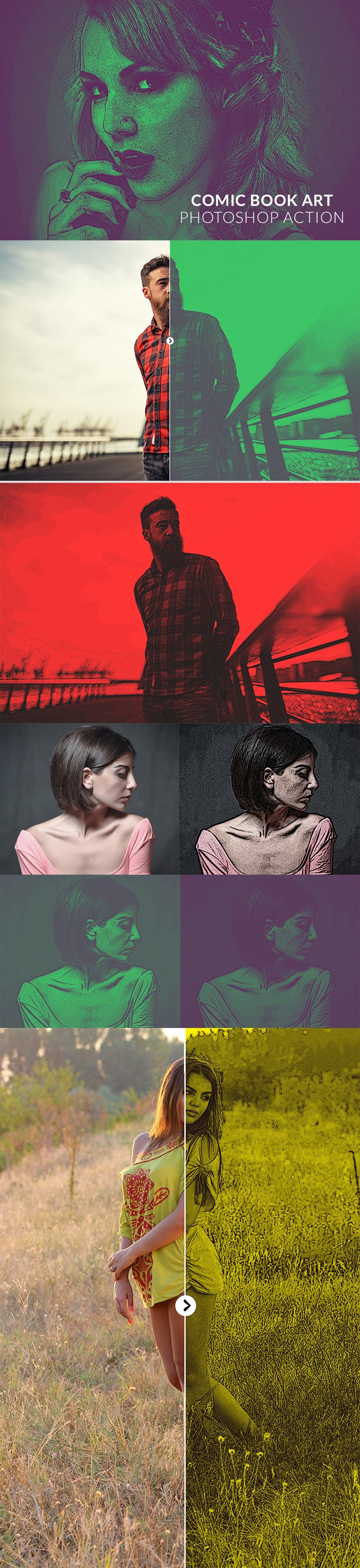 Photoshop Actions for Photographers. $9 Only! - 700px comic book art