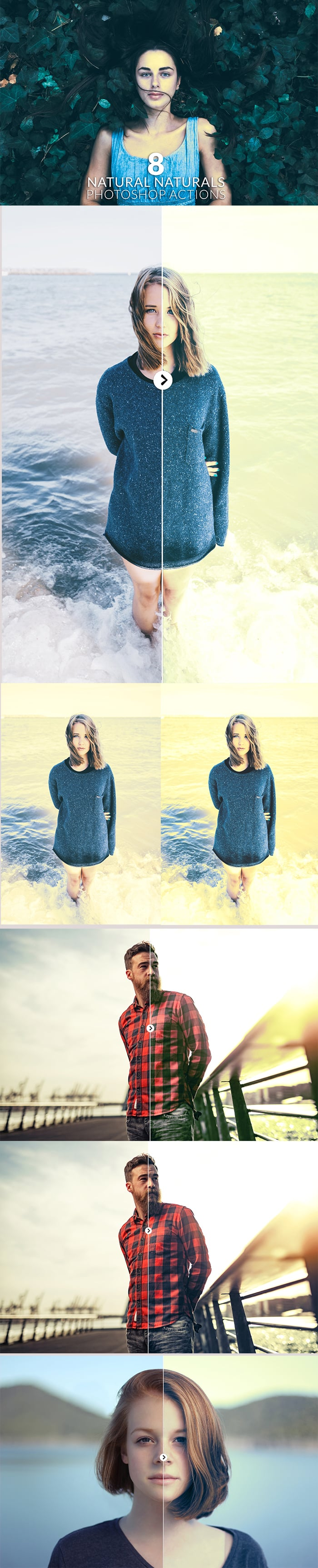 Photoshop Actions for Photographers. $9 Only! - 700px natural naturals