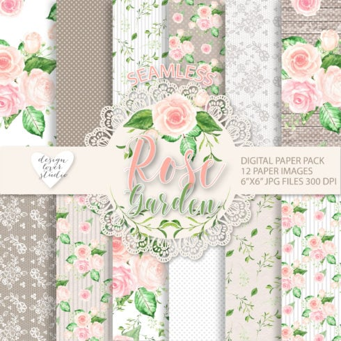 Watercolor Rose: 2 Packs of Seamless Patterns with 71% OFF - ALL ok Etsy 01 490x490