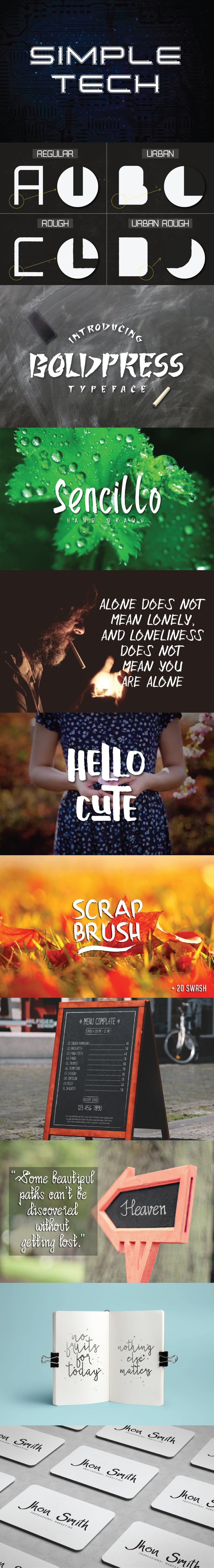 Font Bundle Best my Collection - Only $9 - Preview4