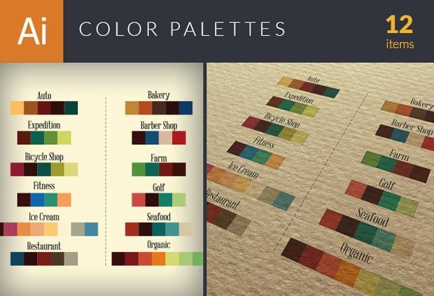 The Essential Branding Kit with 500+ Resources – Only $45 - color palettes small1