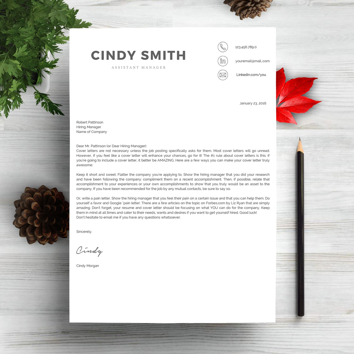 Professional Resume Template 2020. Clean Resume Template – Only $9! - cover letter 3