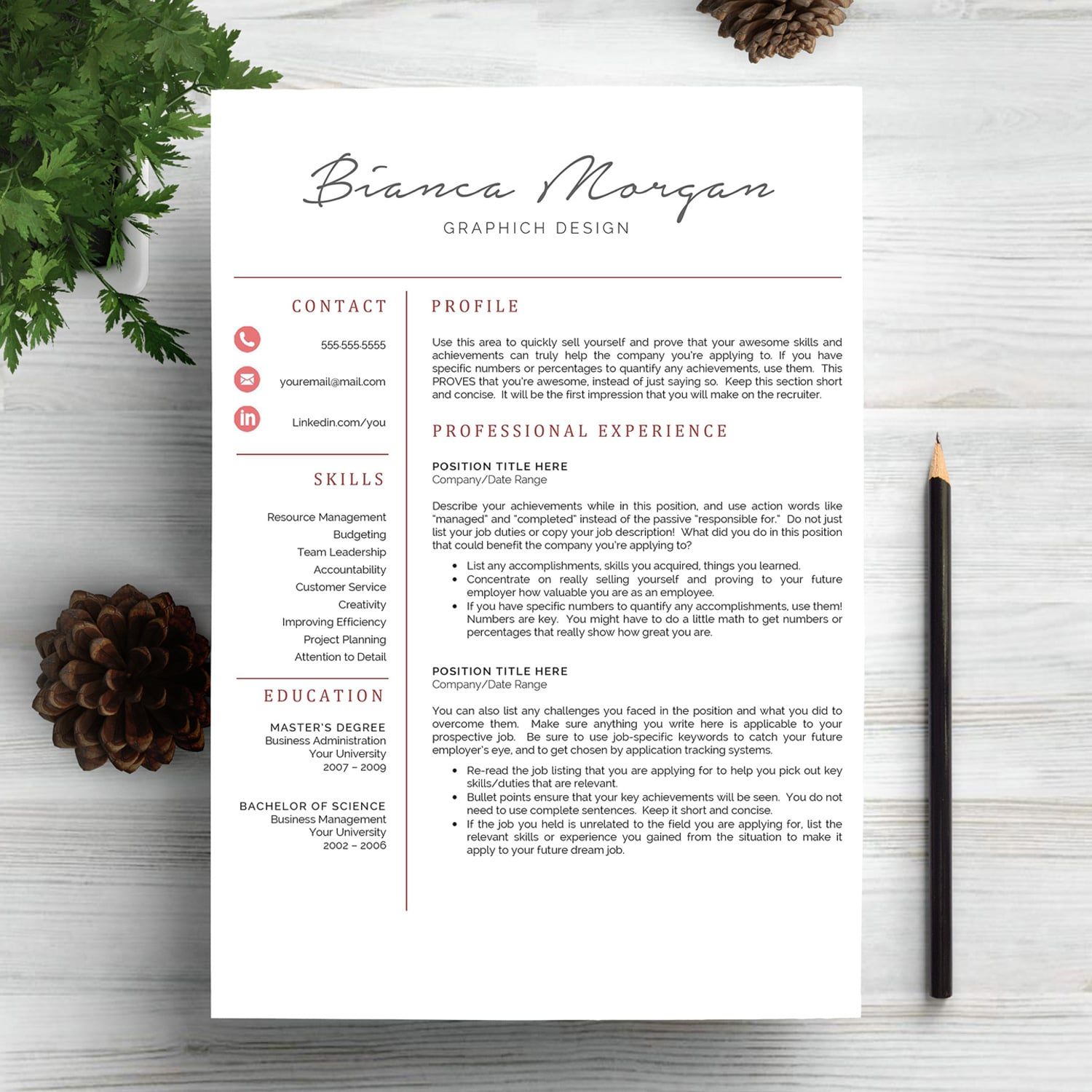 6 Best Clean Resume CV Templates in 2020 - page 1 1