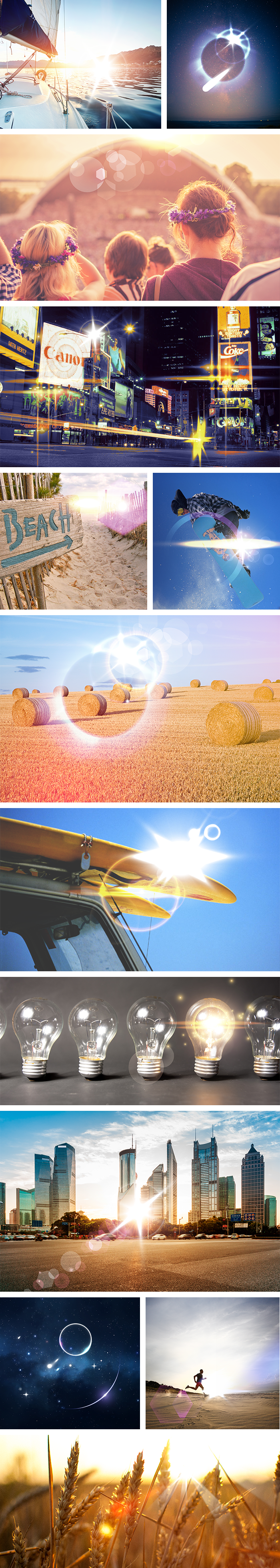 100 Lens Flare Effects with 90% OFF - preview big 700px