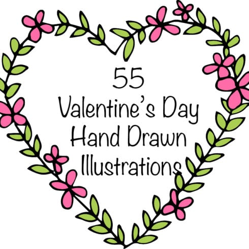 55 Valentine's Day Illustrations. Heart clipart  - only $7 - valentines 18 490x490