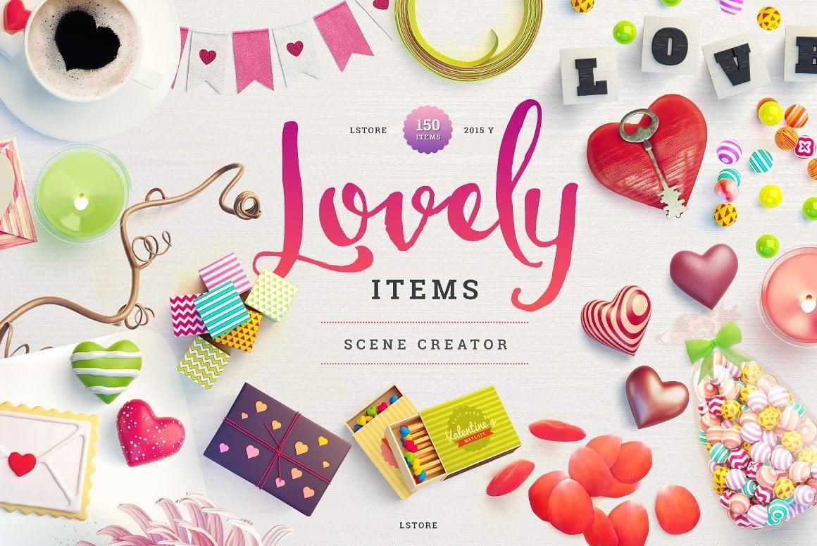 Lovely Items Mockup Scene Creator