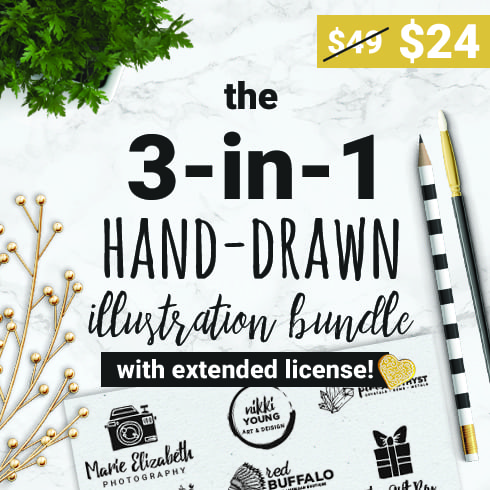 1900+ Best Hand Drawn Flowers And Patterns Bundle 2020 - $24 - 1 1