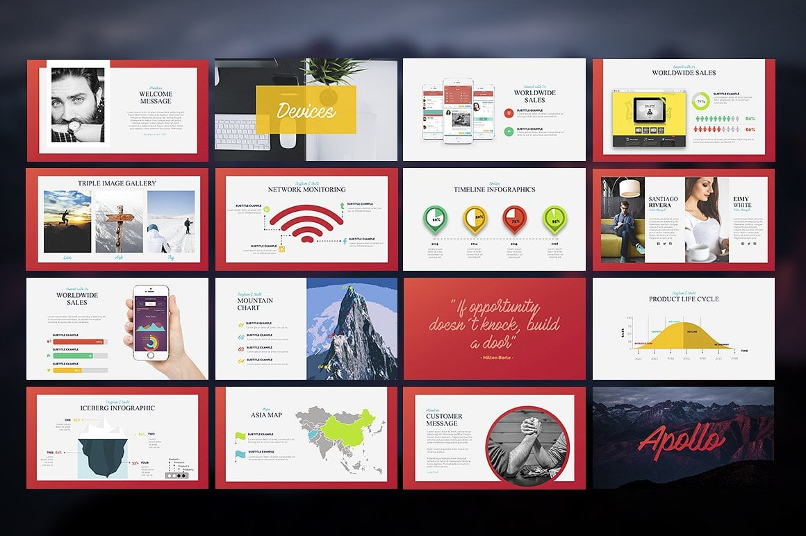 20 Powerpoint Templates with 81% OFF - Apollo 06